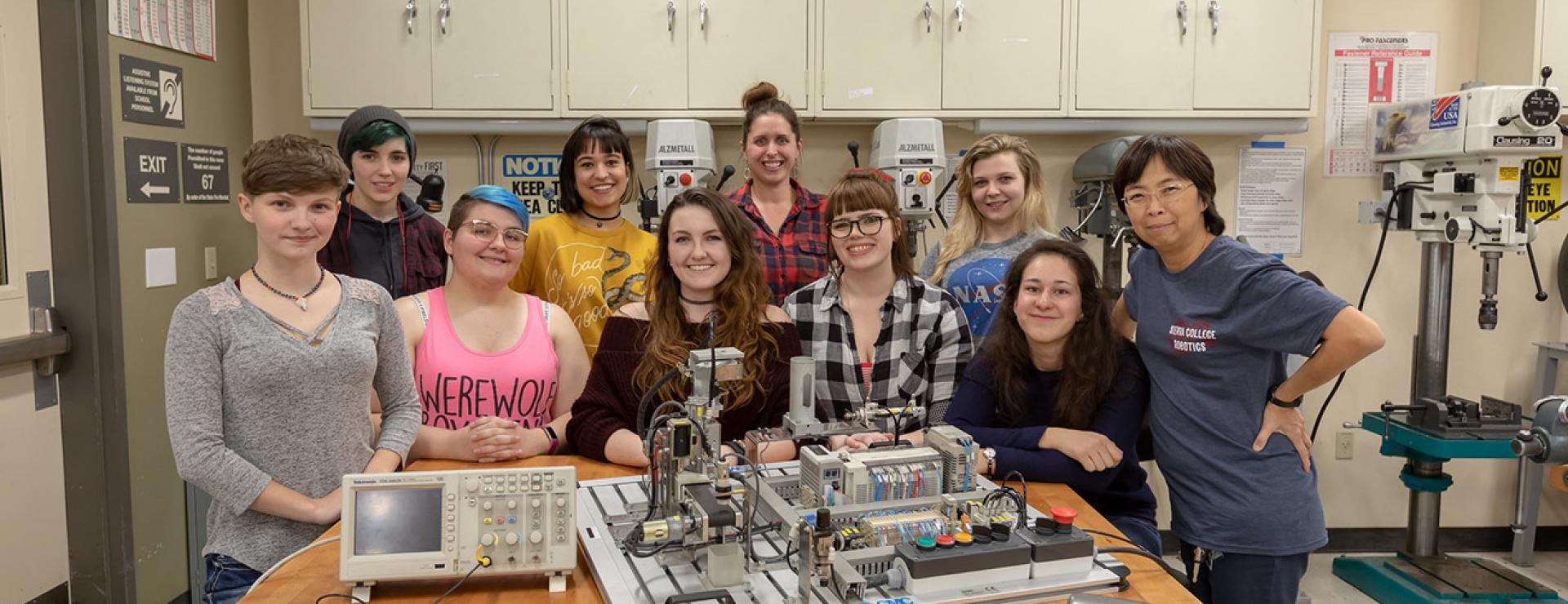 Women students in Mechatronics